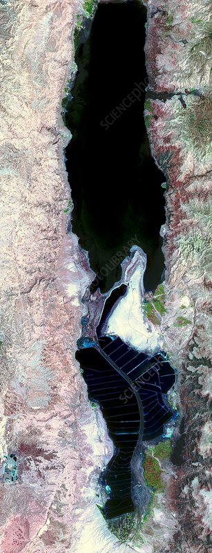 Dead Sea, satellite image, 2006