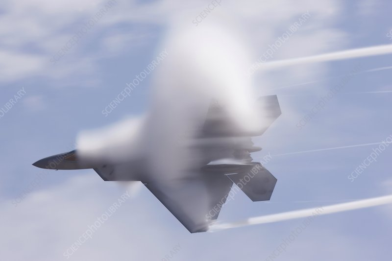 F-22 Raptor fighter aircraft in flight