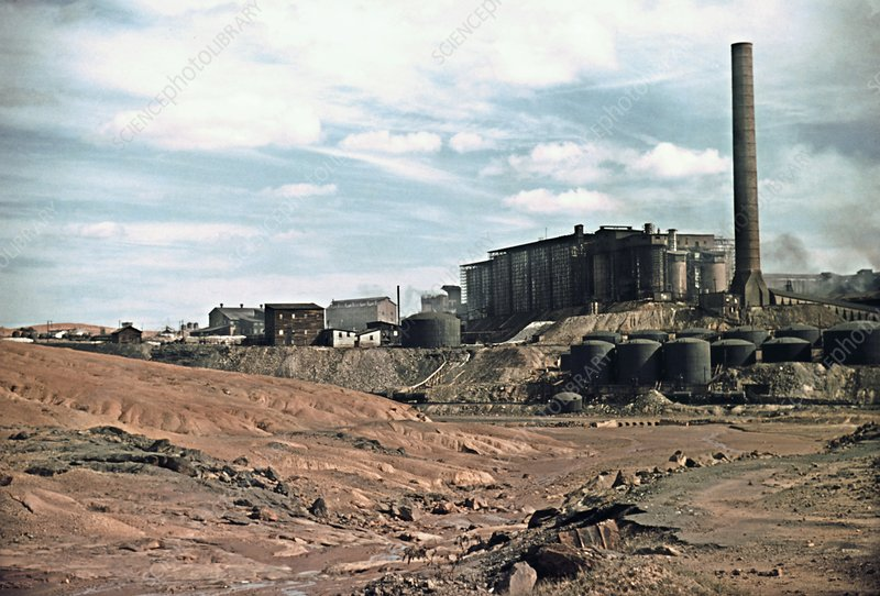 Copper mine and chemical plant, USA