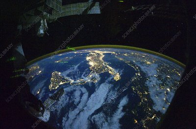 Italy at night, ISS image