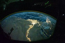 North Africa at night, ISS image