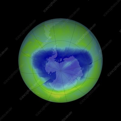 Antarctic ozone hole, 2010