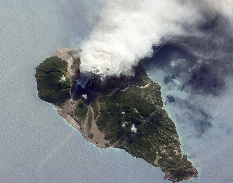 Soufriere Hills eruption, ISS image