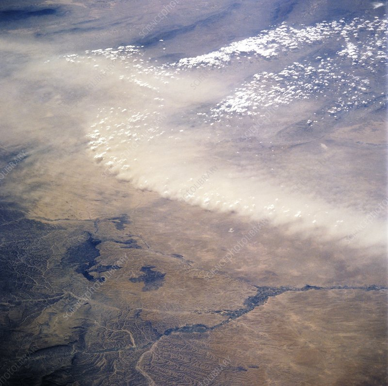 Afghan dust storms, space shuttle image