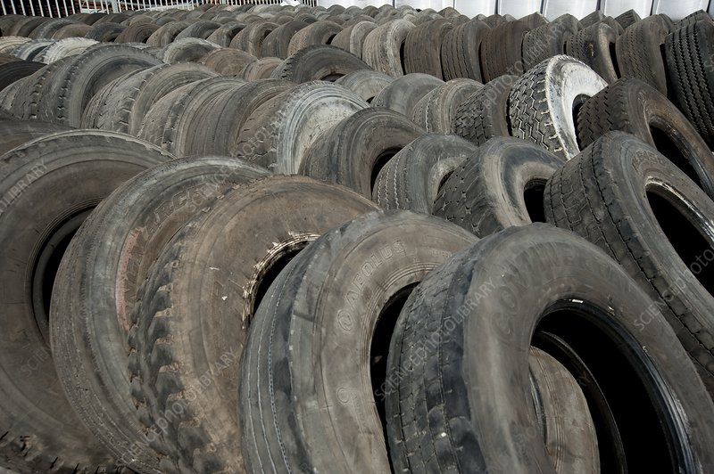 Tires before recycling