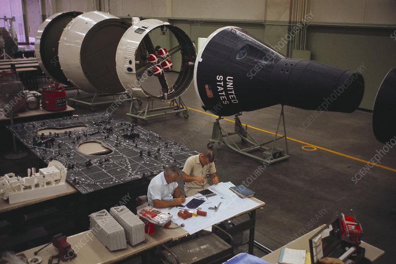 Gemini Spacecraft Project - Stock Image  7840