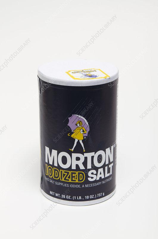 Iodized Table Salt - Stock Image C007/8255 - Science Photo ...