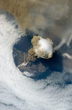 Sarychev volcano, ISS image