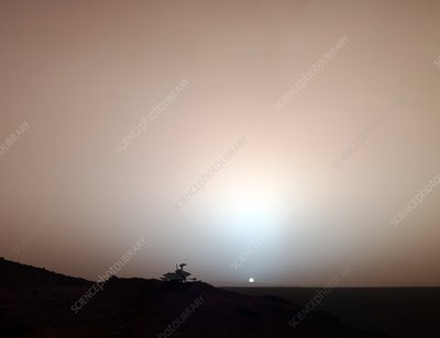 Martian sunset, composite image