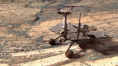 Mars Opportunity rover, composite image
