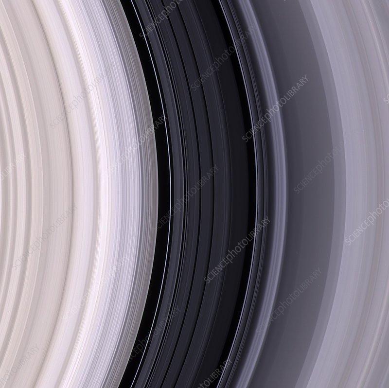 Saturn's rings, Cassini image