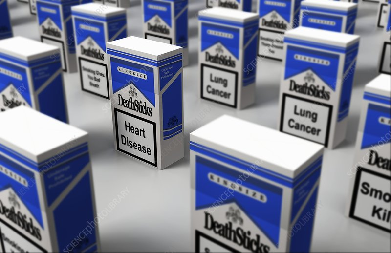 Cigarette boxes sitting on a surface