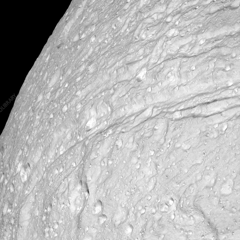 Saturn's moon Tethys, Cassini image