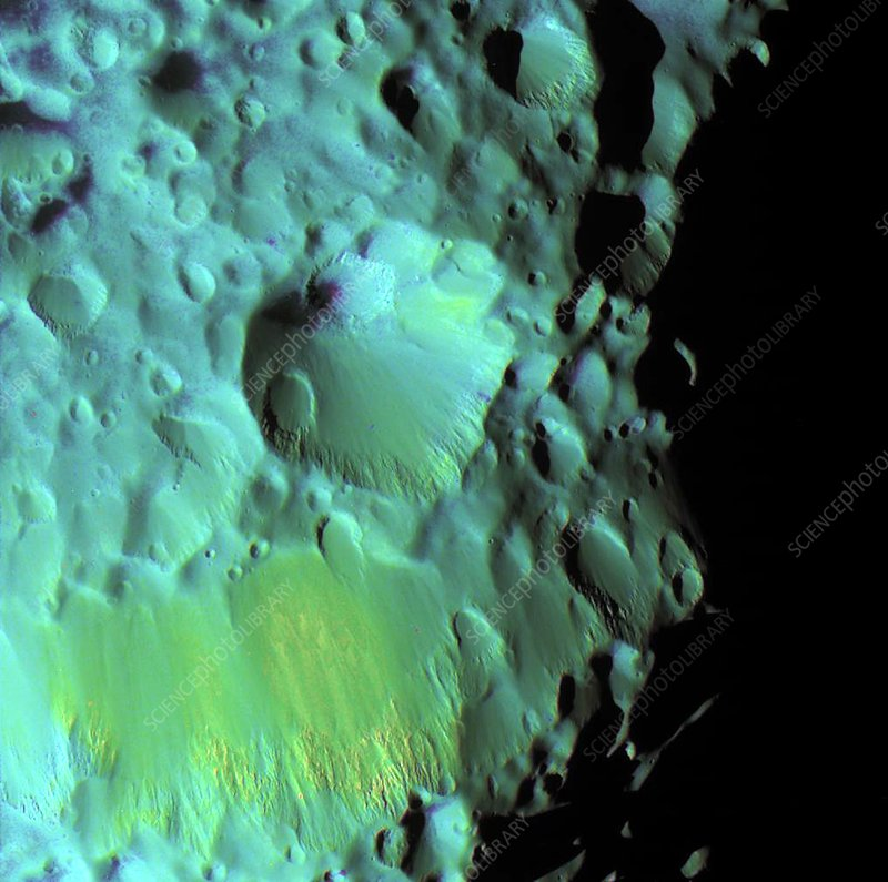 Saturn's moon Hyperion, Cassini image