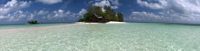 Island dive resort, Borneo