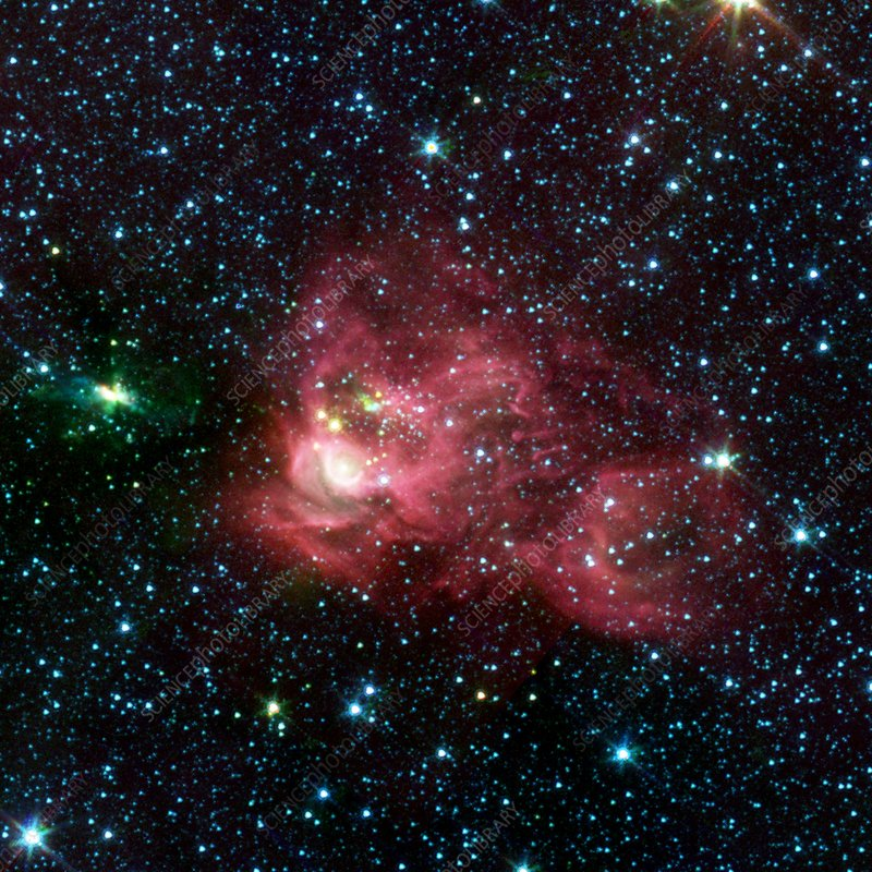 Emission nebula, infrared image