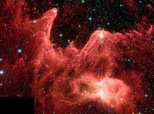 W5 star-forming region, infrared image
