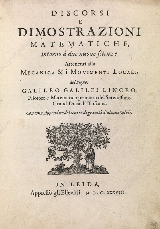 Galileo's Two New Sciences, 1638
