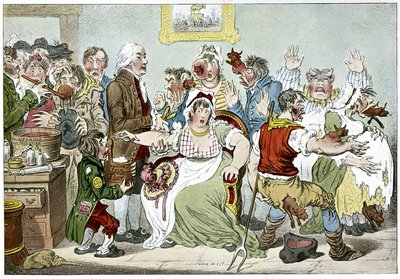 Smallpox vaccination, satirical artwork