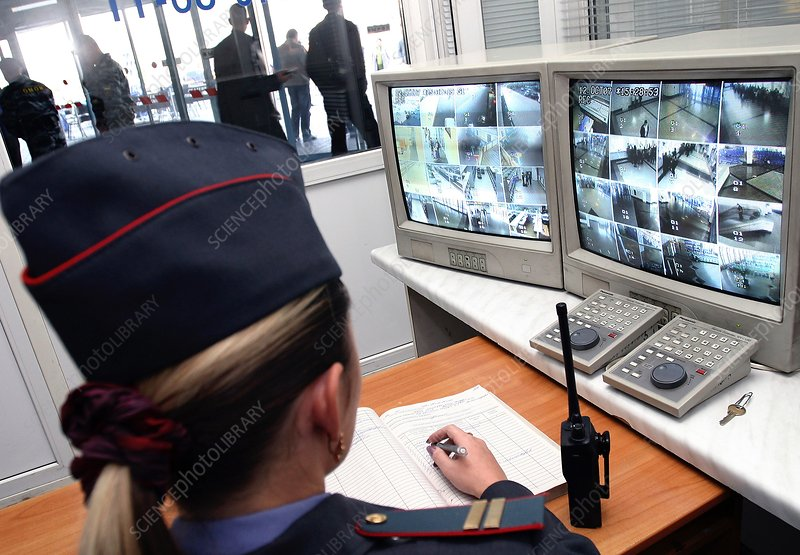 Police monitoring station, Russia