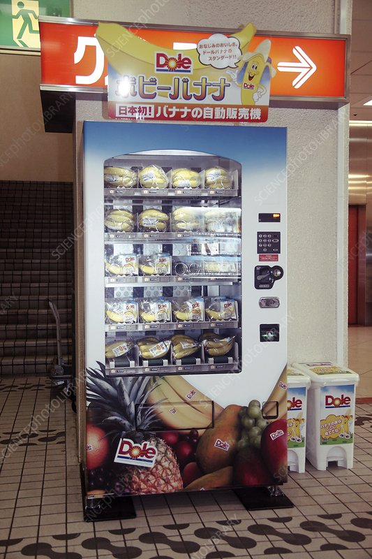 Banana vending machine, Japan