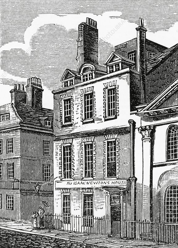 Newton's house, 35 St Martin's Street