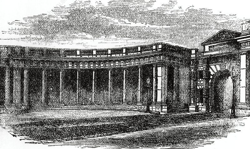 Colonnade of Burlington House, 1868
