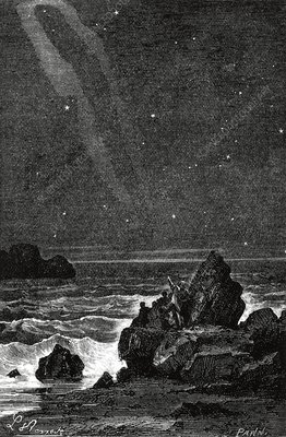 Constellations seen from the seashore