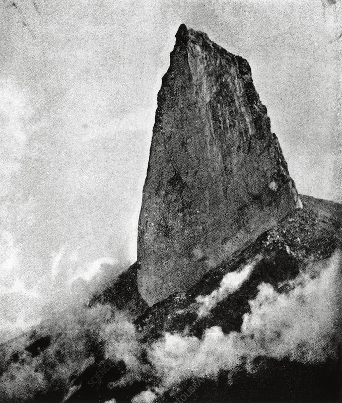 Mount Pelee's collapsed lava dome, 1903
