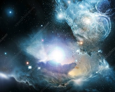 Primordial quasar, artwork