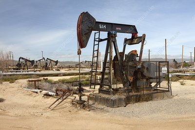 Oil pump in California