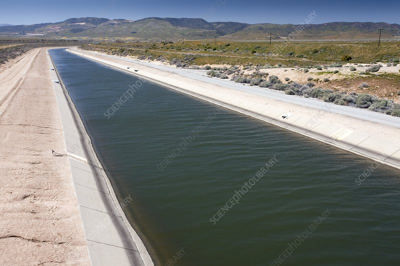 California Aqueduct irrigation canal
