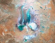 Lake Eyre, Australia, April 22nd 2010