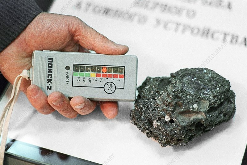Sample from Soviet nuclear test