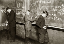 Early 20th Century maths class