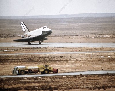 Buran space shuttle landing