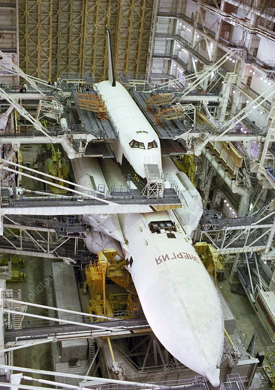 Buran space shuttle before flight