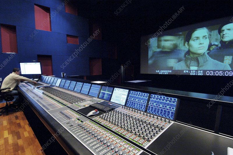 Movie sound mixing studio