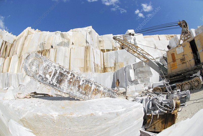 Marble quarrying