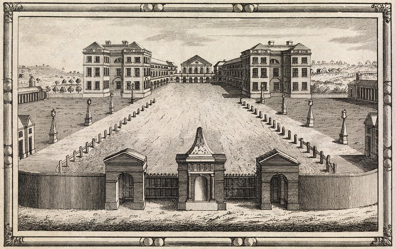 18th C engraving of Foundling Hospital