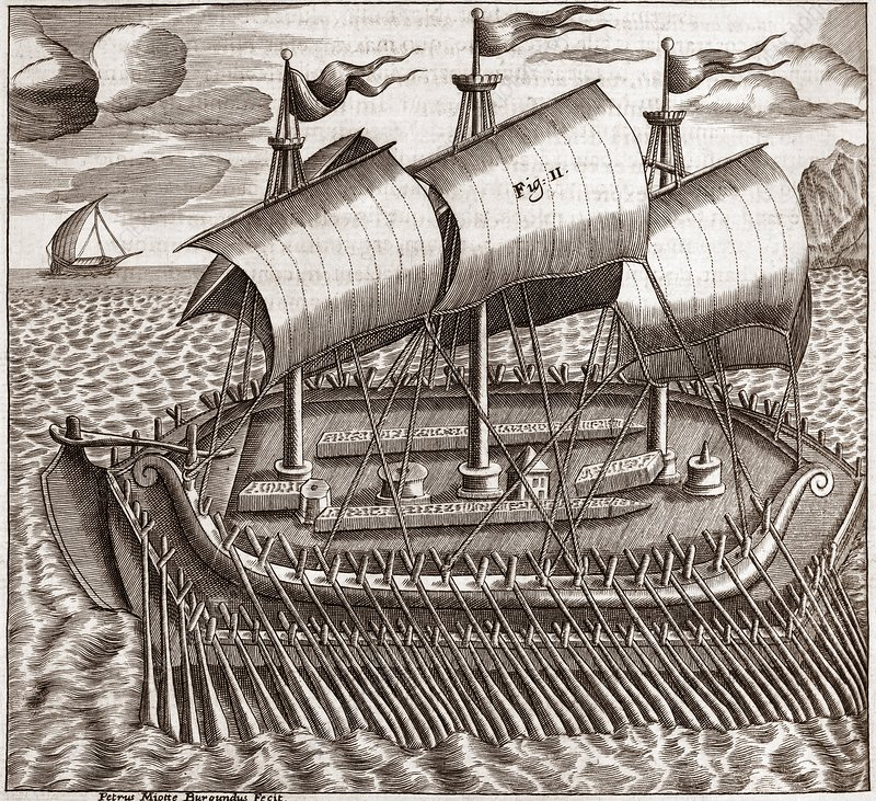 Egyptian galleon, 17th century