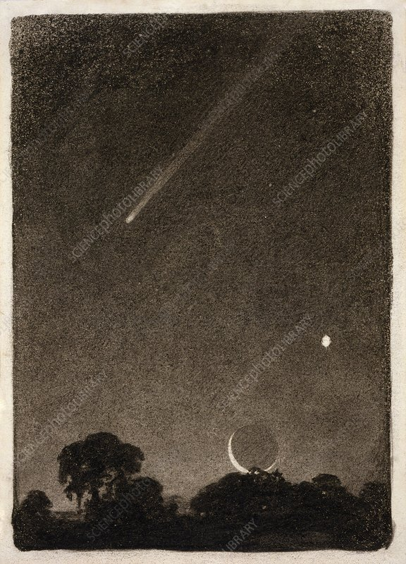 Halley's Comet, historical artwork
