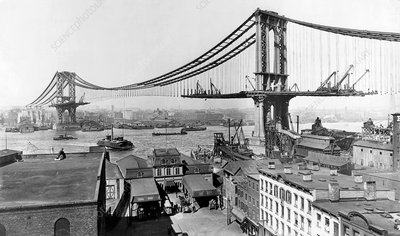 Manhattan bridge construction
