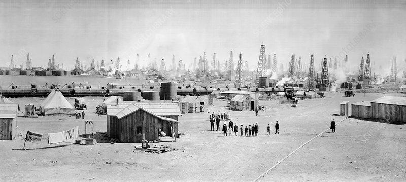 Burkburnett oil field, historical image
