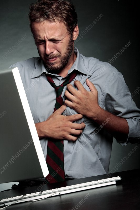 Stress-related heart attack