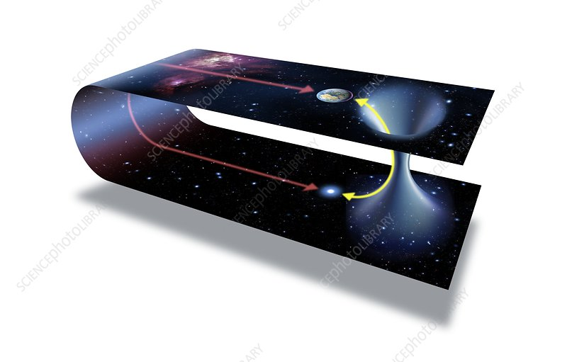 Wormhole Conceptual Artwork Stock Image C008 7769 Science Photo Library