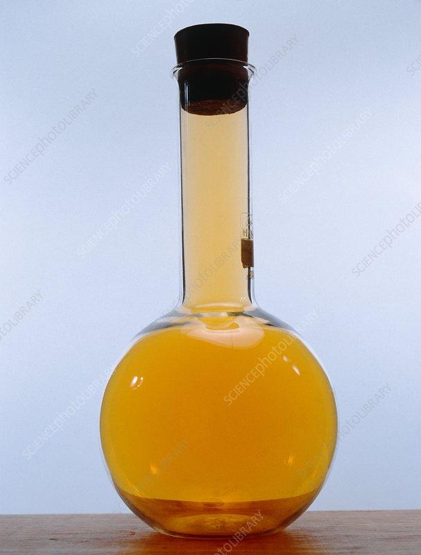 Flask of bromine