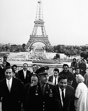 Yuri Gagarin visiting France