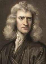 1689 Sir Isaac Newton portrait young