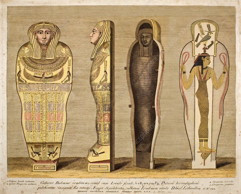 First British Museum Mummy and coffin
